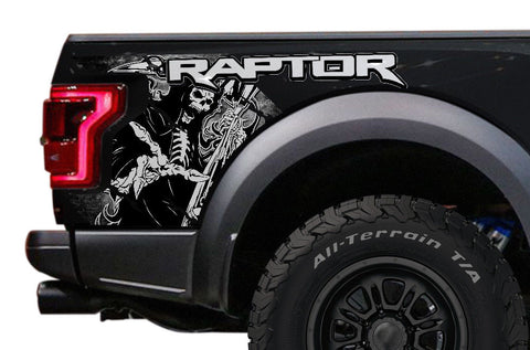 Toyota Tacoma Quarter Panel Graphics (2016-2018) GRIM REAPER - RacerX Customs