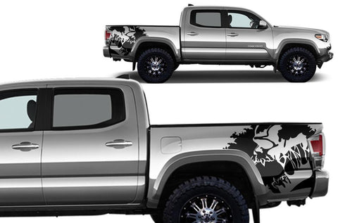 Toyota Tacoma Quarter Panel Vinyl Wrap Kit (2016-2017) Scream - RacerX Customs