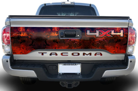 Toyota Tacoma Tailgate Graphics (2016-2018) 4x4 MELT - RacerX Customs