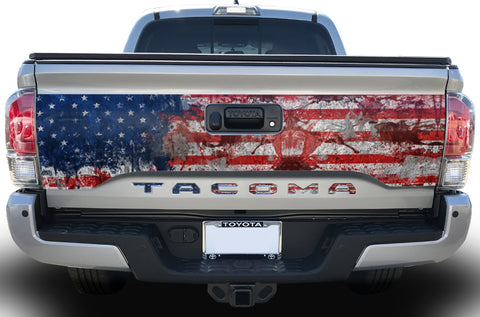 Toyota Tacoma Tailgate Graphics (2016-2018) AMERICAN FLAG - RacerX Customs