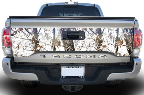 Toyota Tacoma Tailgate Graphics (2016-2018) FROZEN CAMO - RacerX Customs