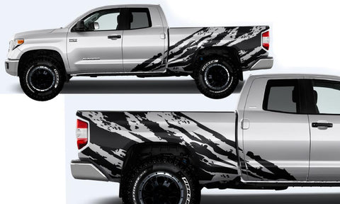 Toyota Tundra Wrap Kit - Vinyl - Shred (2014-2018) Double Cab - RacerX Customs