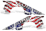 Toyota Tundra Double-Cab Graphics (2007-2013) AMERICAN FLAG - RacerX Customs