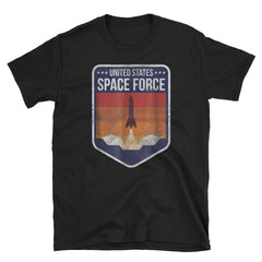Space Force T-shirt Retro Short-Sleeve Unisex T-Shirt