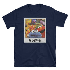 Sesame Street Selfie Group Pose Short-Sleeve Unisex T-Shirt
