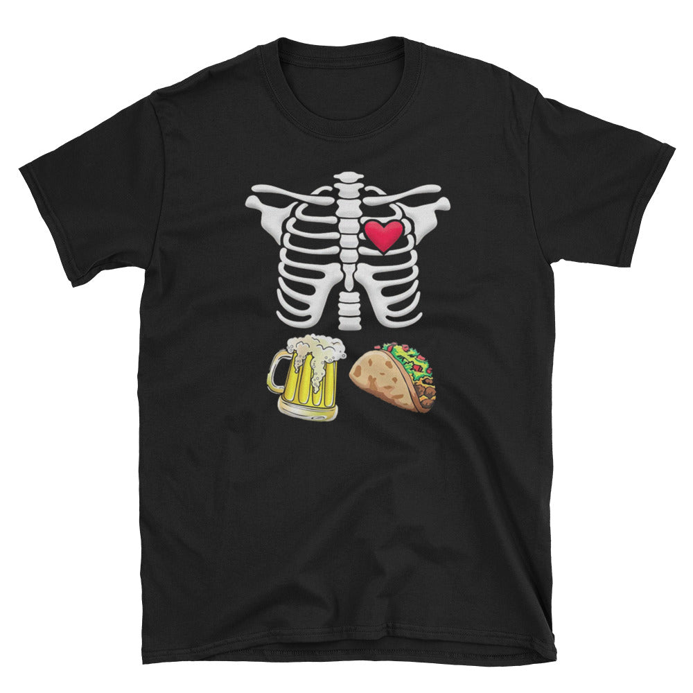 Tacos and Beer Pregnant Skeleton