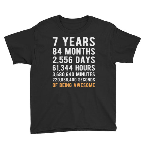7th Birthday Gift Youth Short Sleeve T-Shirt