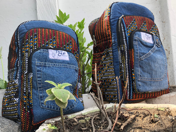 TwoCedi Denim-Mama Backpack