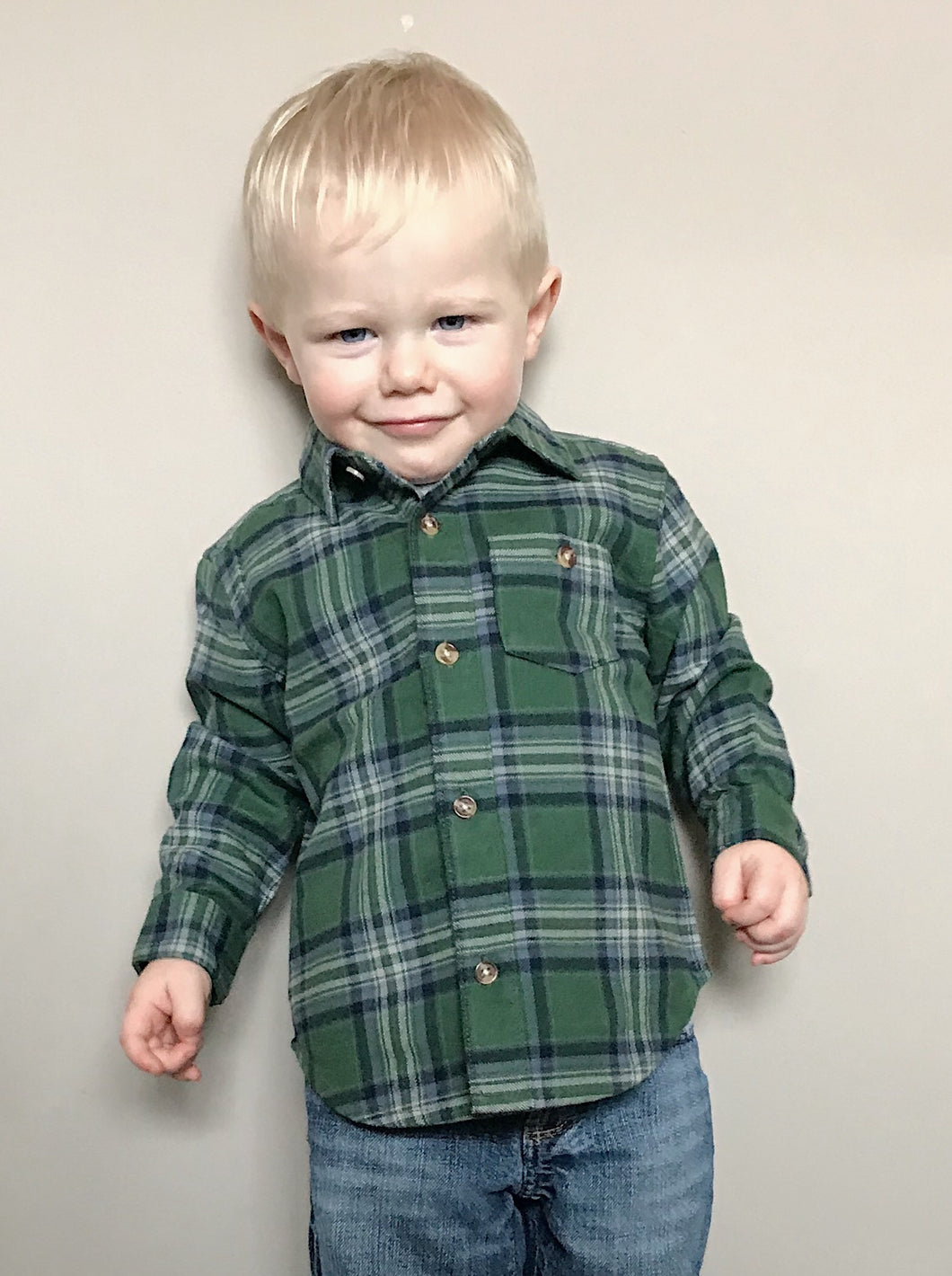Button Up Flannel for Toddler Boys - Two|Three|Four