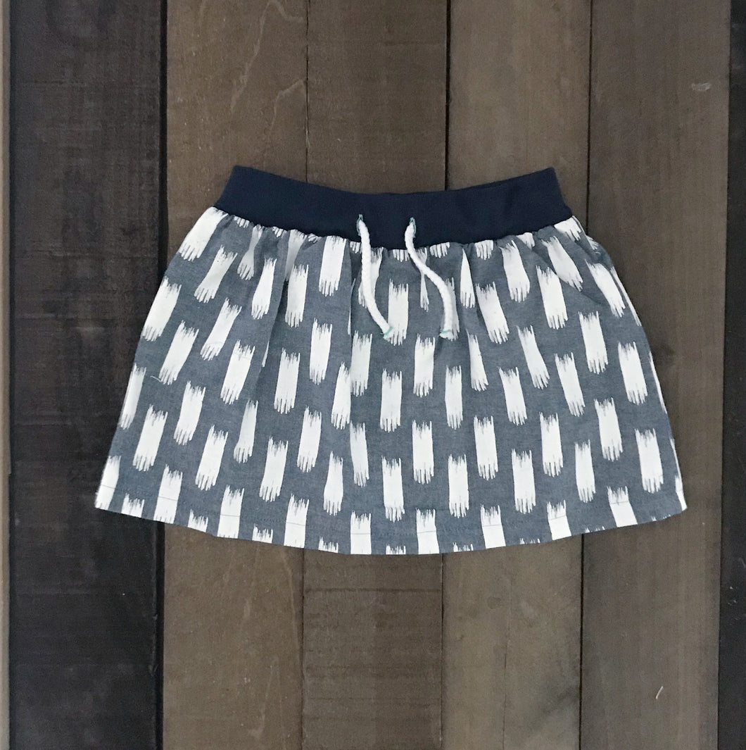 A Line Ikat Skirt for Toddler Girls - Two|Three|Four