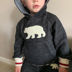 Cozy Hoodie With Bear for Toddlers - Two|Three|Four