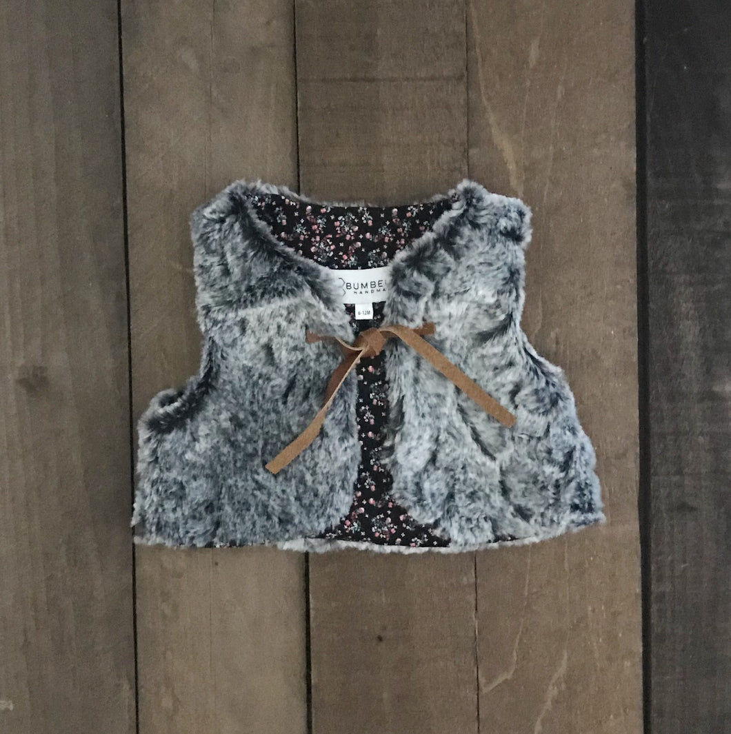 Fur Vest For Toddler and Baby Girls - Two|Three|Four