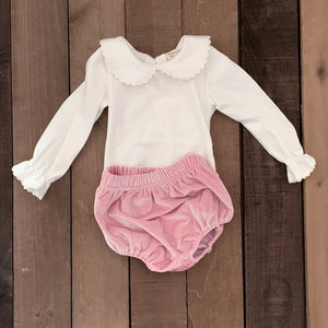 Peter Pan Collar Top For Toddler and Baby Girls - Two|Three|Four