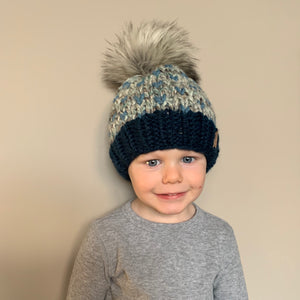 Winter Hats With Faux Pom for Kids - Two|Three|Four