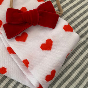 Red Hearts Leg Warmers for Toddler Girls - Two|Three|Four