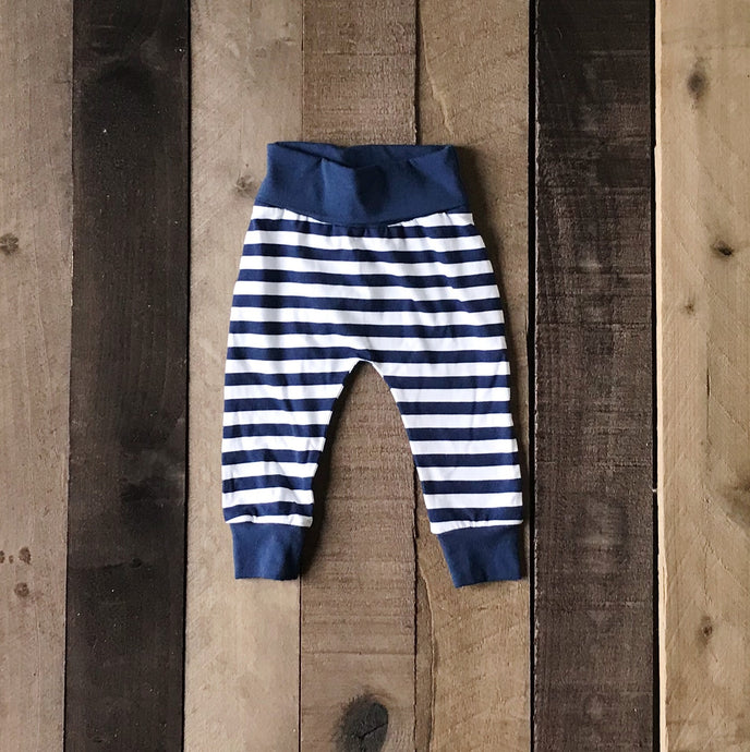 Jersey Joggers With Navy Waistband for Toddlers - Two|Three|Four