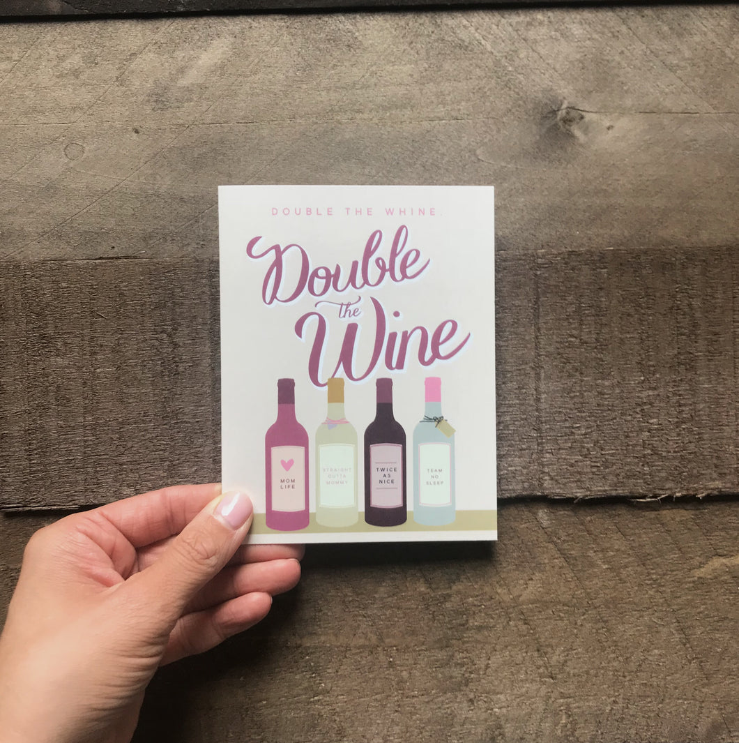 Greeting Card | Double the Wine - Two|Three|Four