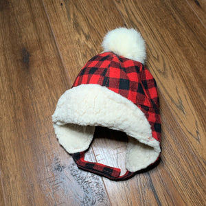 Kids Buffalo Plaid Trapper Hat - Two|Three|Four