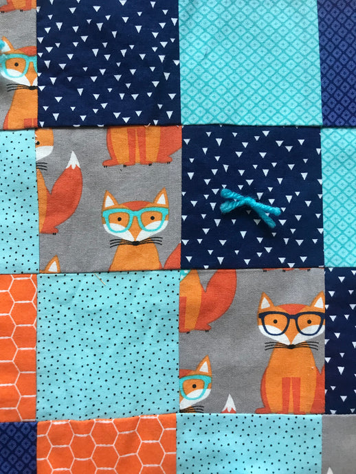 Fox Print Baby Blanket - Two|Three|Four
