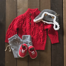 Chunky Cable Knit Sweater for Toddler Boys - Two|Three|Four