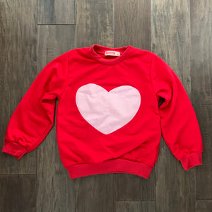 Heart Appliqué Sweatshirt for Toddler Girls - Two|Three|Four
