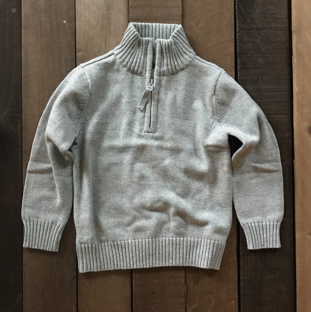 Quarter Zip Cotton Sweater for Toddler Boys - Two|Three|Four