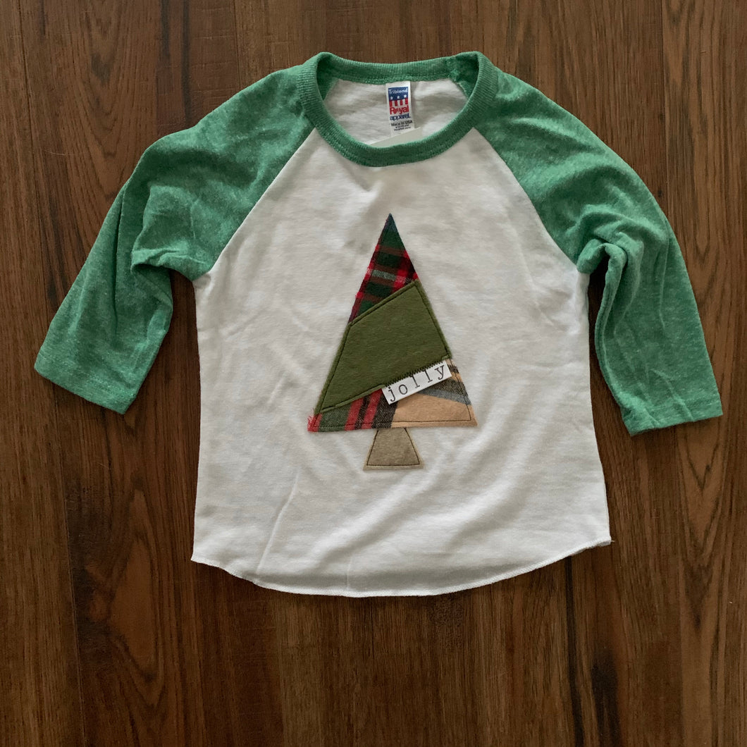 Jolly Kids Holiday Raglan Shirt