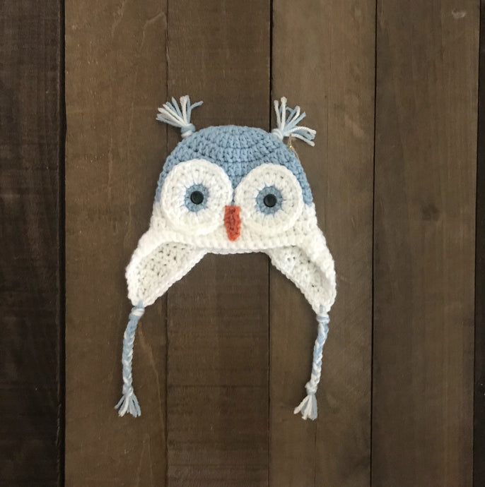 Owl Winter Hat For Toddler and Baby - Two|Three|Four