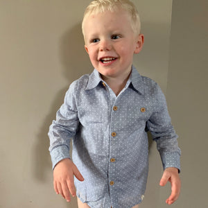 Polka Dot Dress Shirt for Toddler Boys