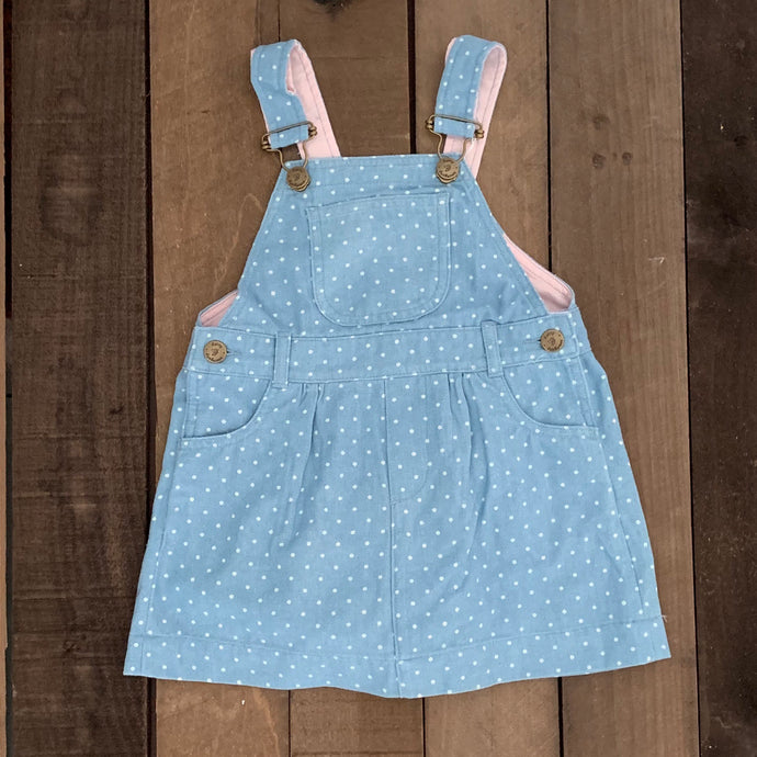 Dungaree Dress for Baby and Toddler Girls - Two|Three|Four
