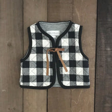 Quilted Buffalo Check Vest For Toddler Girls - Two|Three|Four