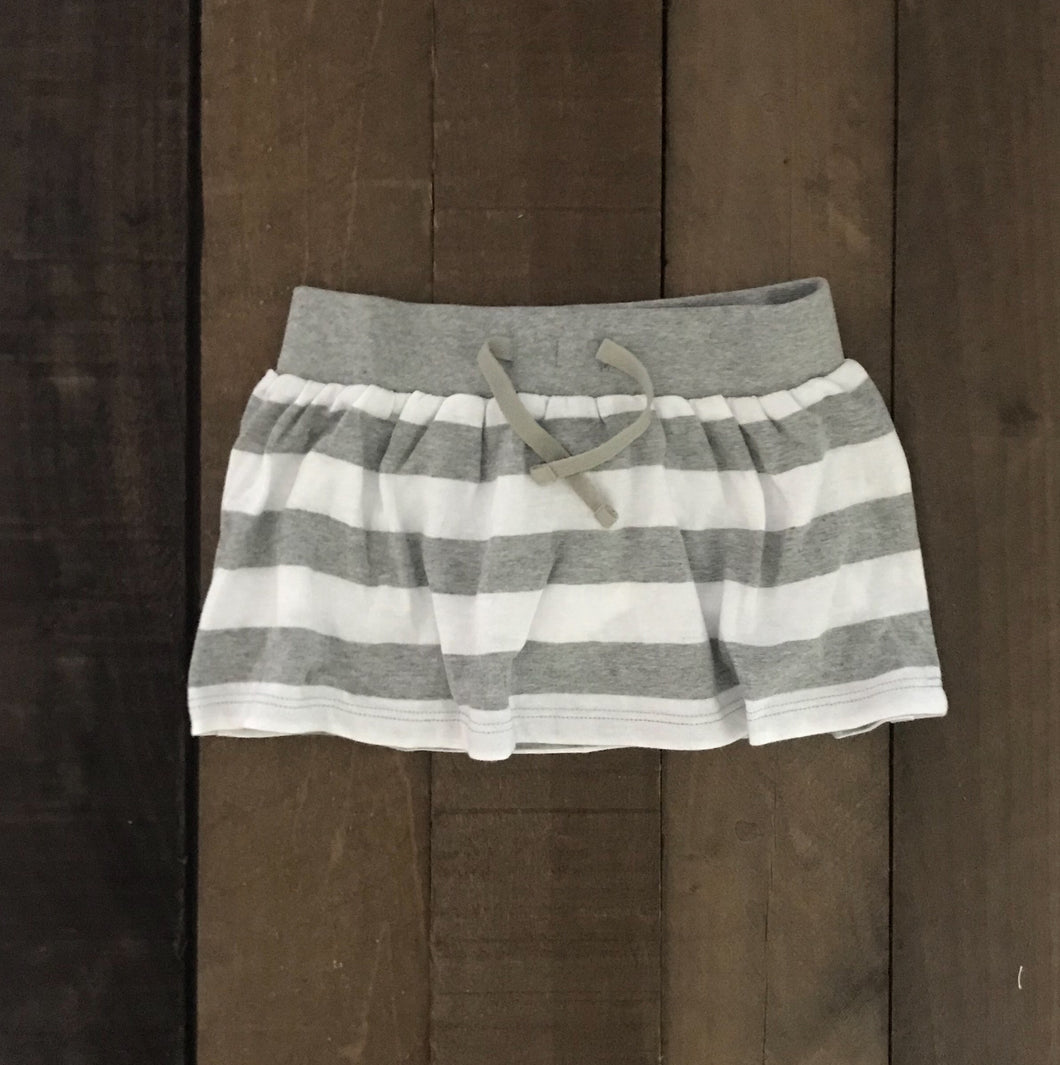 Striped Jersey Skirt For Toddler Girls - Two|Three|Four