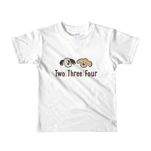 Two Three Four Brand Tee For Toddlers - Two|Three|Four