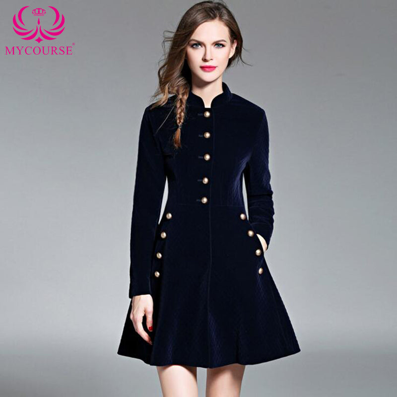 Autumn Vintage Elegant Black Velvet Dresses Winter Dresses