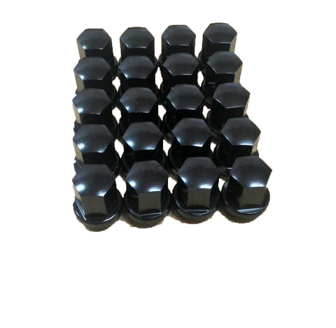 Set Of 20 Black Alloy Wheel Nuts To Fit Porsche Models