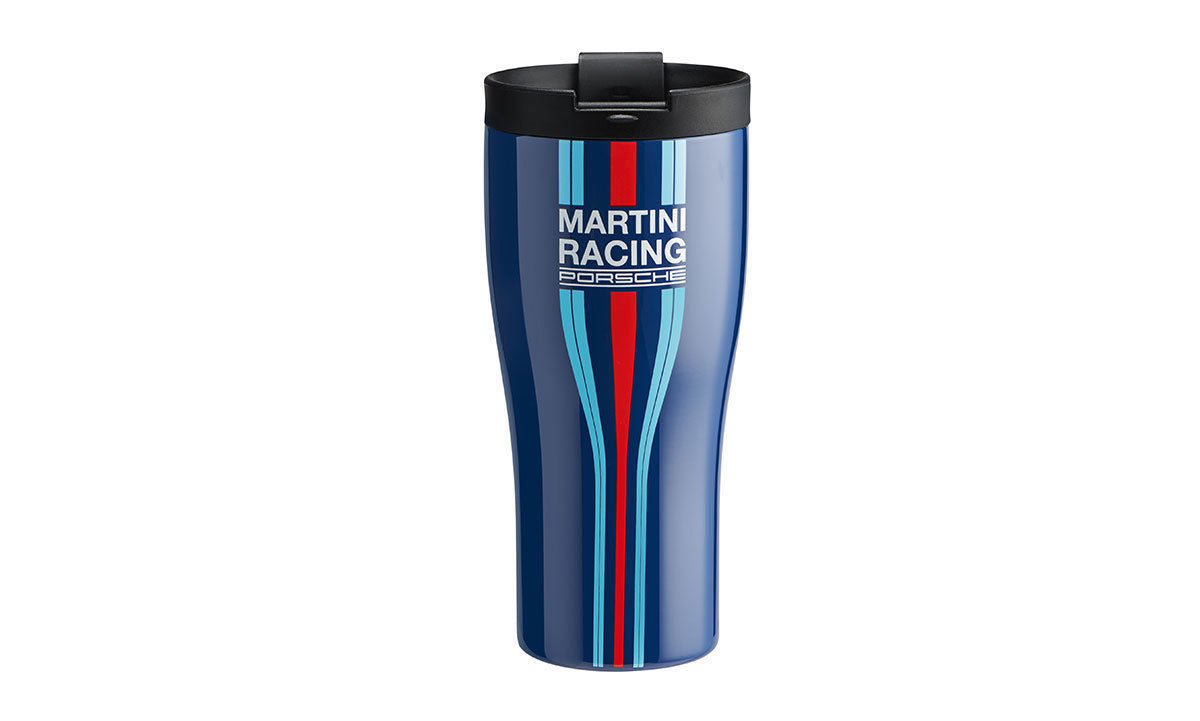 Porsche Martini Racing Travel Mug Thermal Insulating Cup Stainless Steel Blue