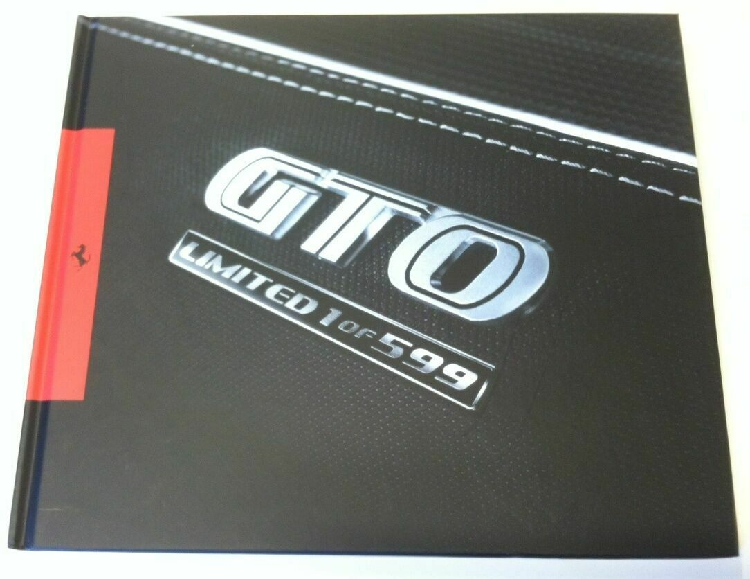 FERRARI 599 GTO hardcover brochure limited catalogue