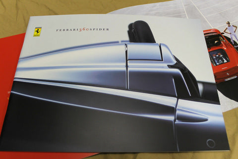 Genuine Ferrari 360 Spider brochure Prospekt catalogue NOS