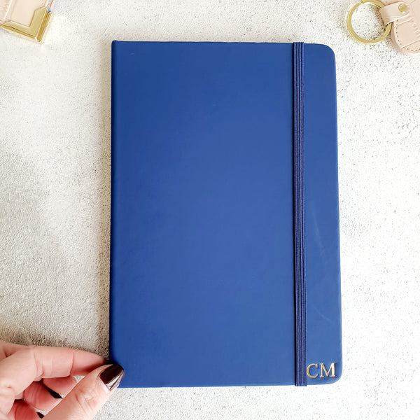 Personalised notebook in navy
