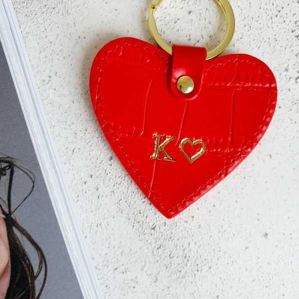Limited Edition Leather Heart Keyring