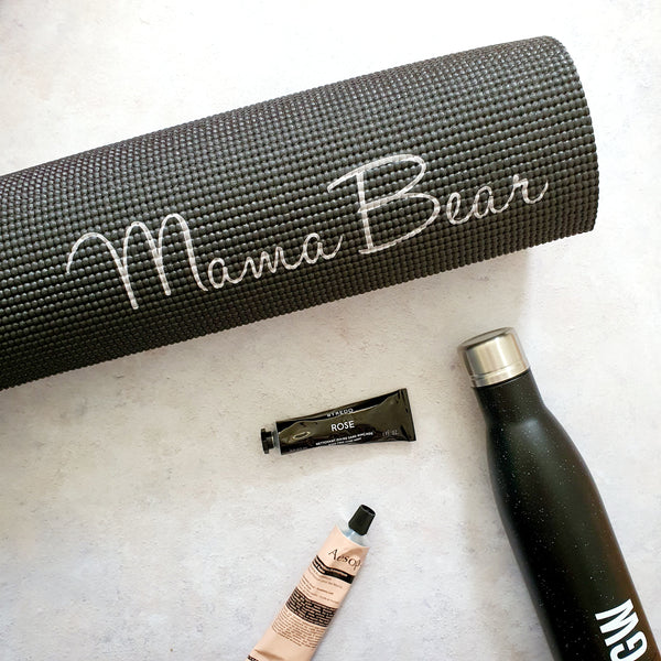 Personalised Yoga Mat - Black
