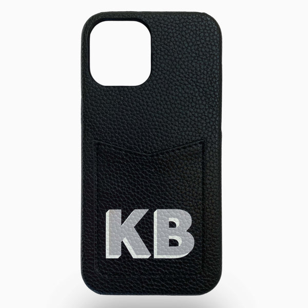 Dropshadow Pocket Phone Case in Black