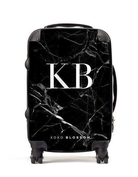 Personalised Suitcase | Black Marble