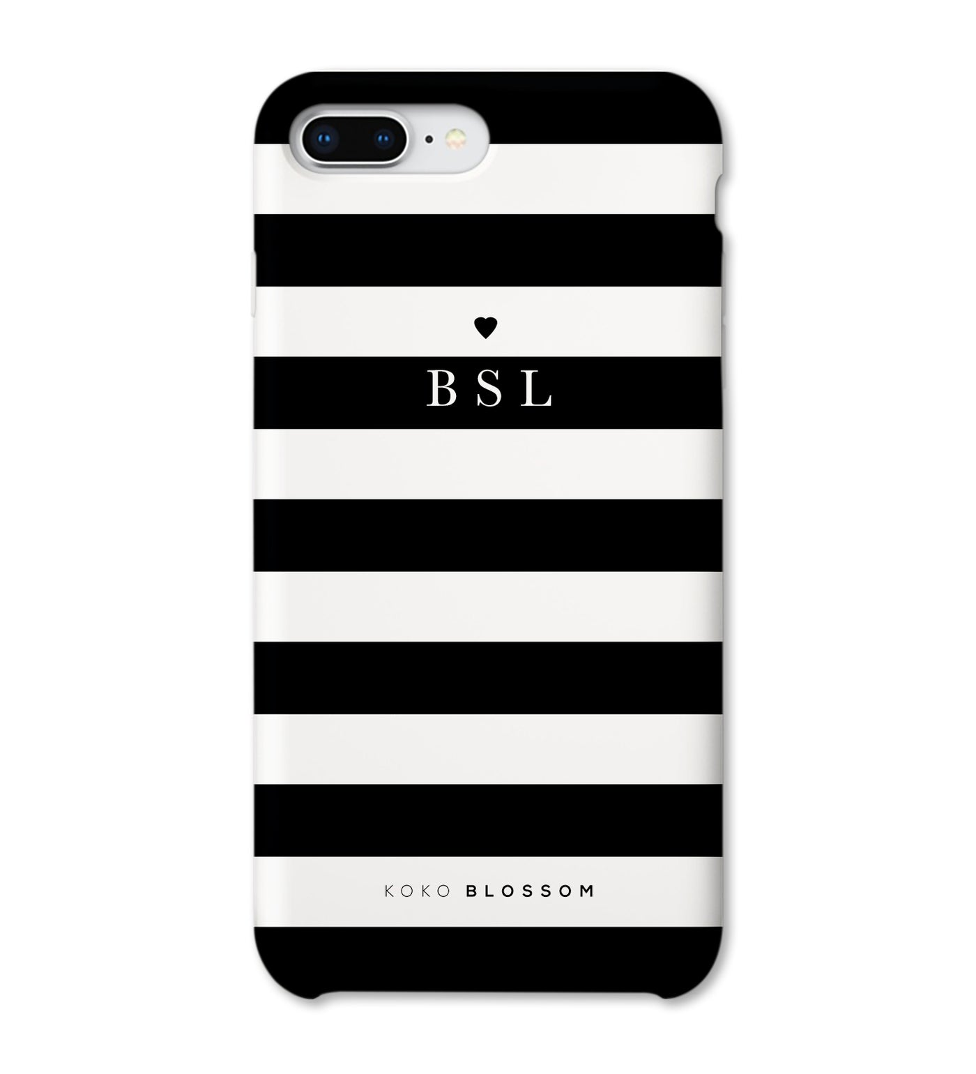 Personalised Phone Case | Classic Monochrome Stripe