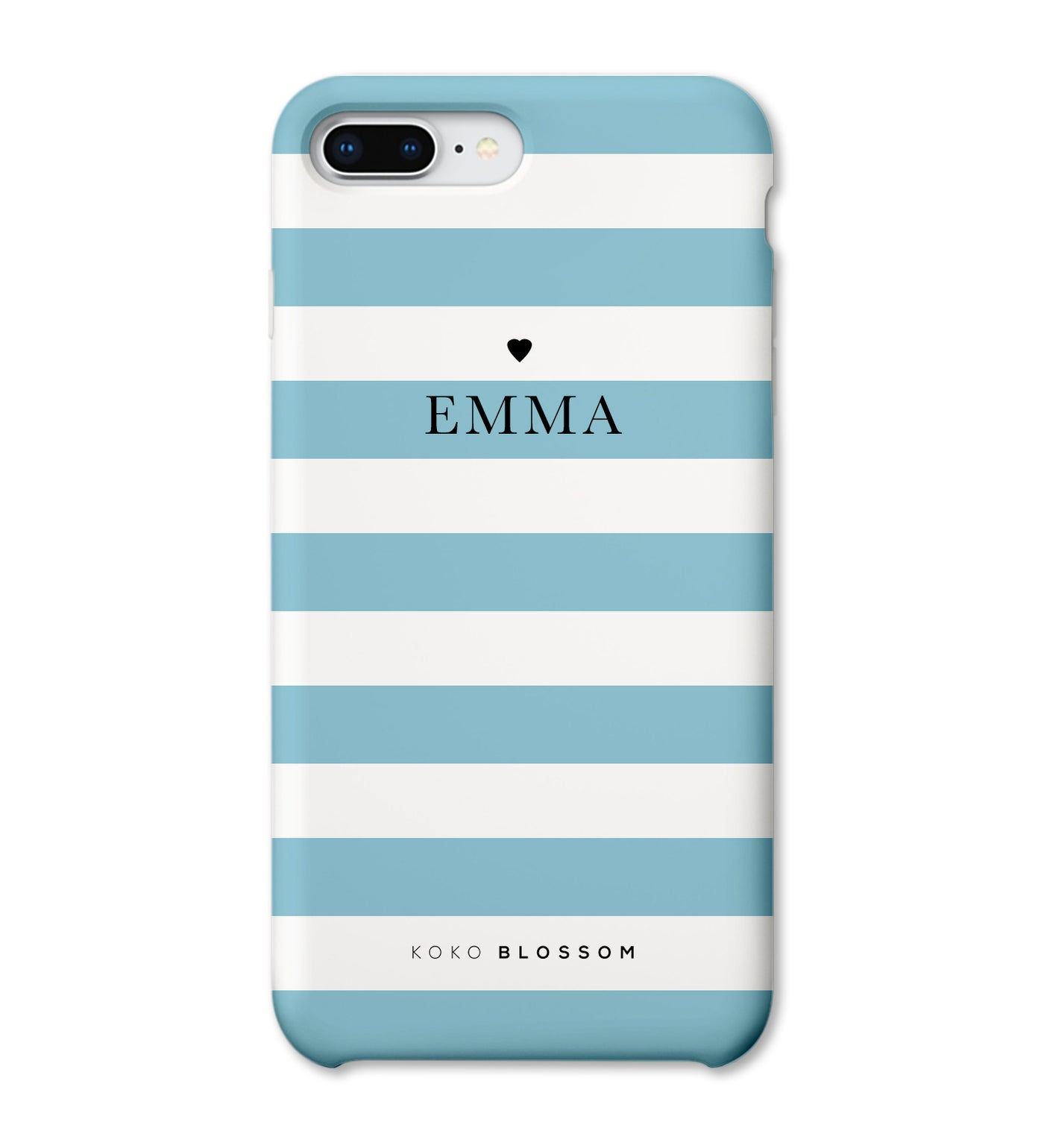 Personalised Phone Case | Classic Teal Stripe