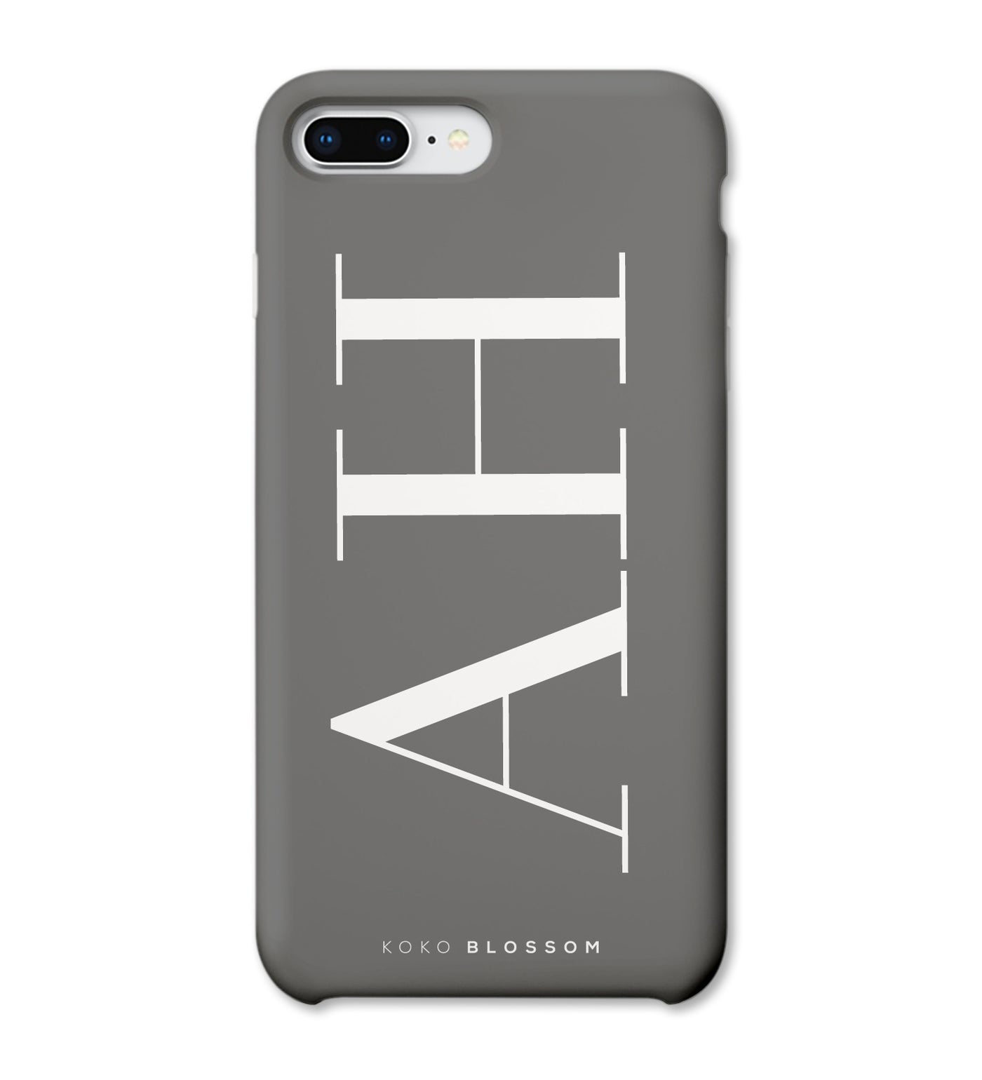 Personalised Phone Case | Large Initials Grey