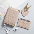 Bespoke Leather Travel Set in Blush