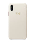 Faux Leather Personalised Phone Case | Ivory