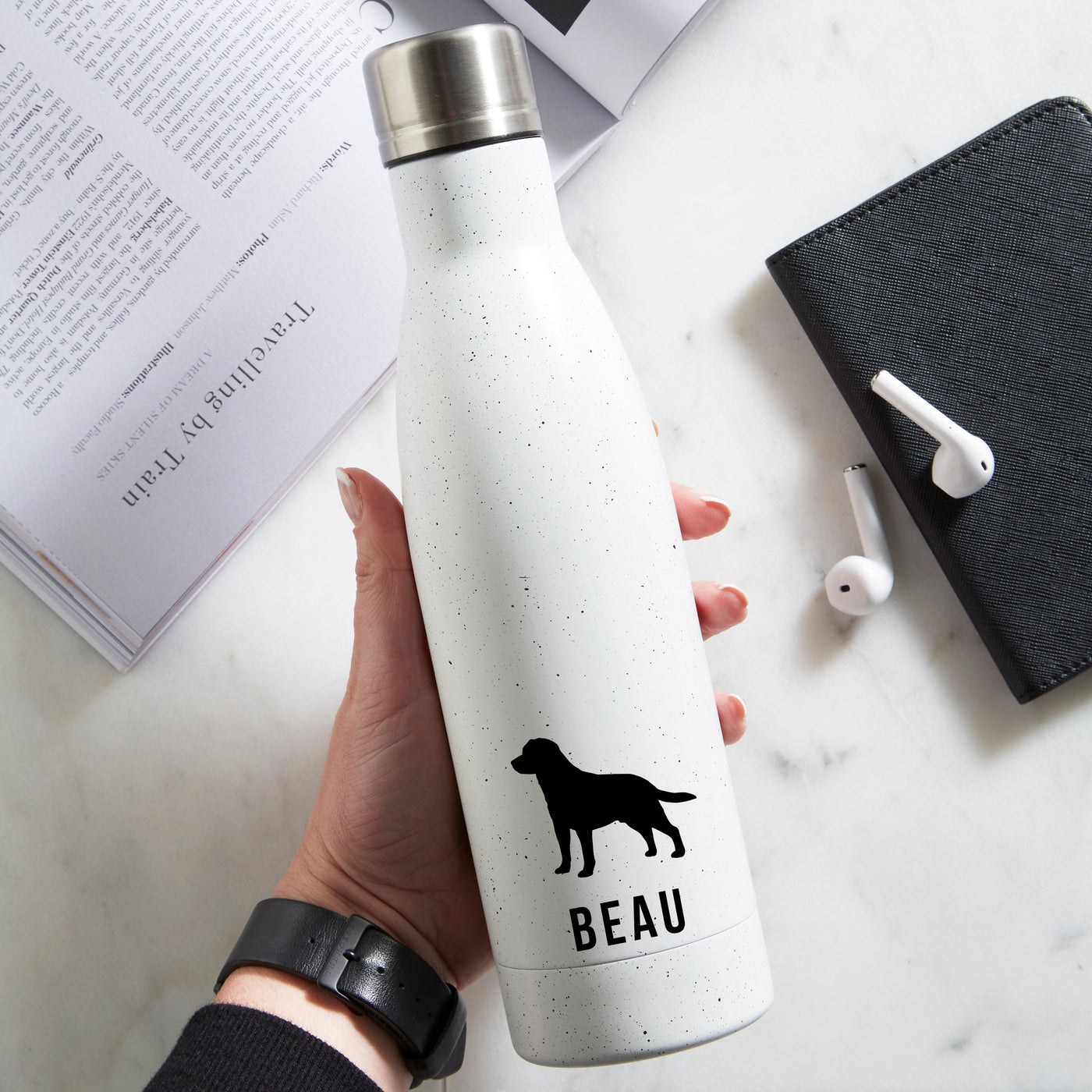Personalised Dog Breed Water Bottle