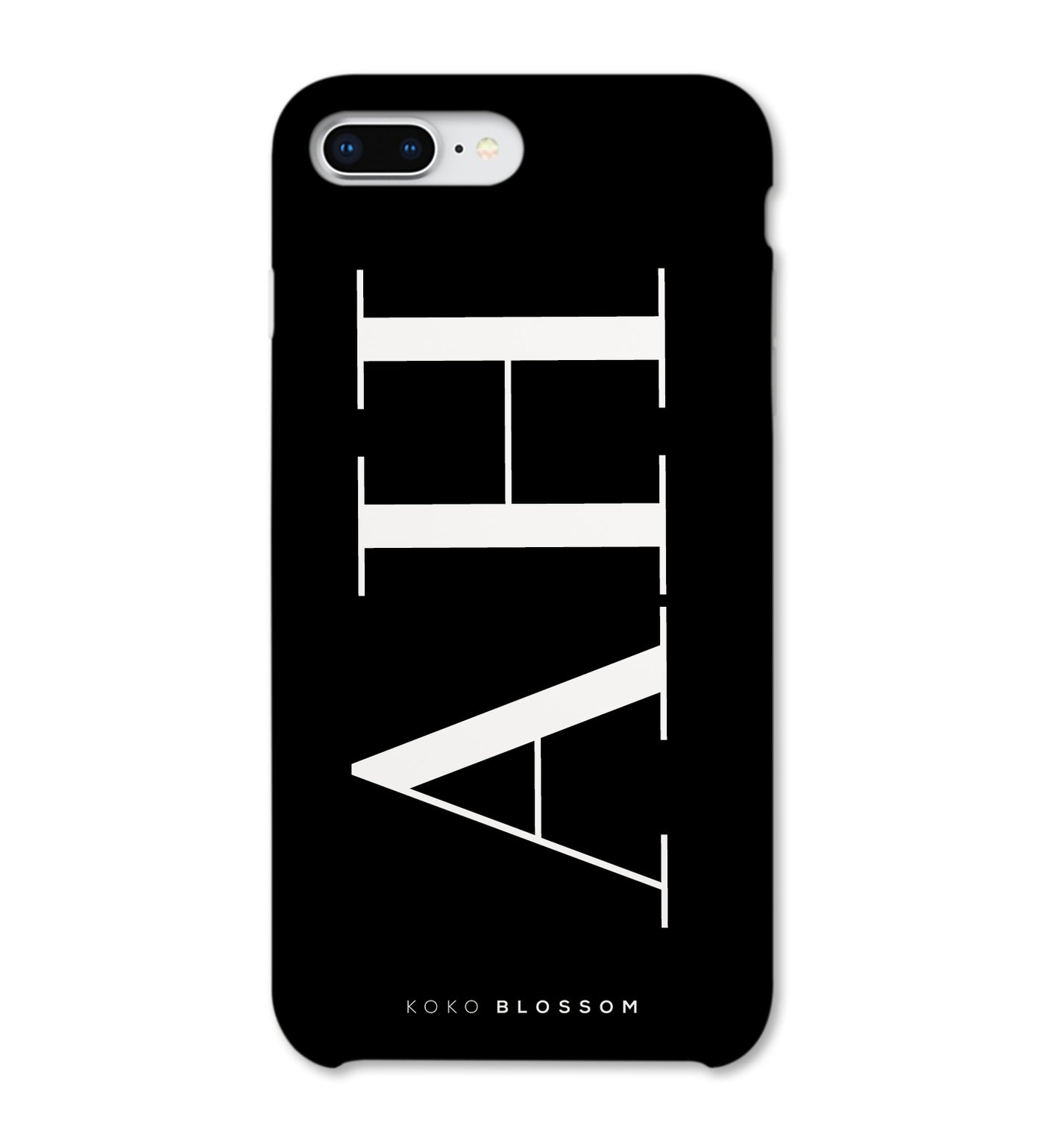 Personalised Phone Case | Large Initials Black